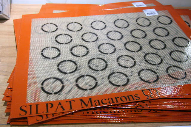 Silpat silicone baking mats for macarons!