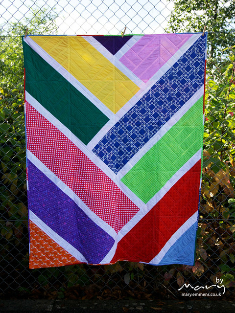 Broken Herringbone Quilt - back