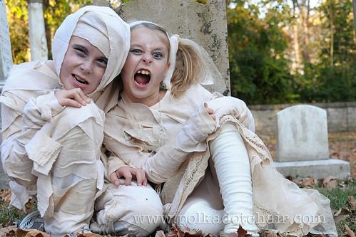 mummy costume polkadotchair