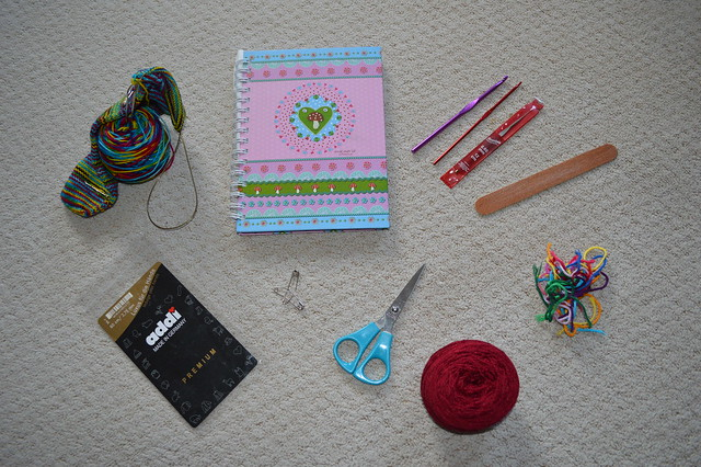 Knitting and crochet odds and ends