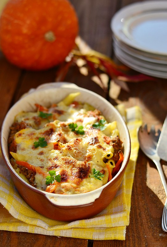 baked pasta with pumpkin