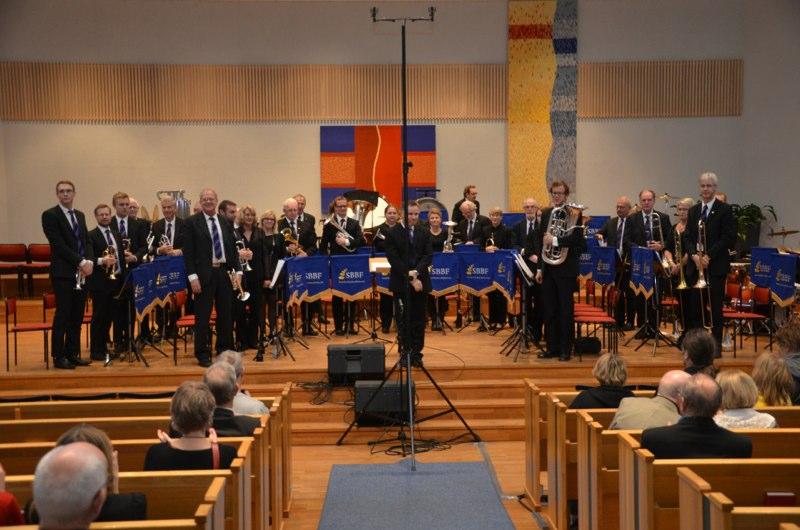 Brassbandfestivalen 2012 - Halmstad Brass Band med dirigent Håkan Andersson