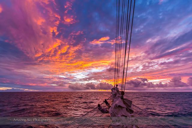 Sunset over the Atlantic (Nov 8, 2013) #2