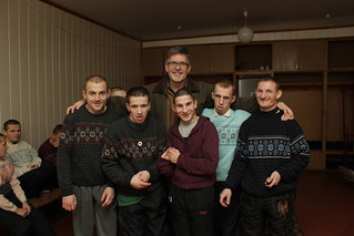 Dr. Ken Ney with boys from Romaniv orphanage