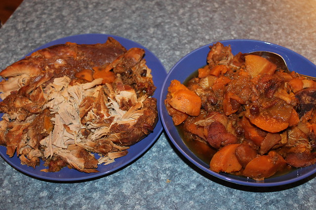 Slow-cooker Pork with Sweet Potatoes, Apples and Cranberries