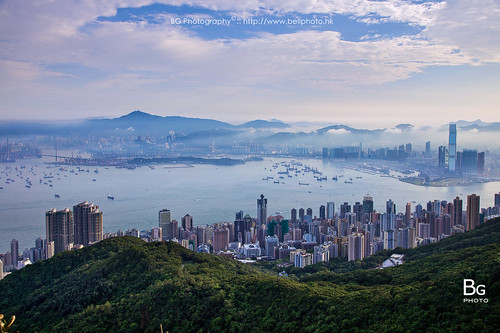 morning hk fog clouds sunrise landscape hongkong day peak 香港 begin 風景 hongkongisland victoriahabour 太平山 雲海 晨曦 日出 維港 維多利亞港 霧 lugard