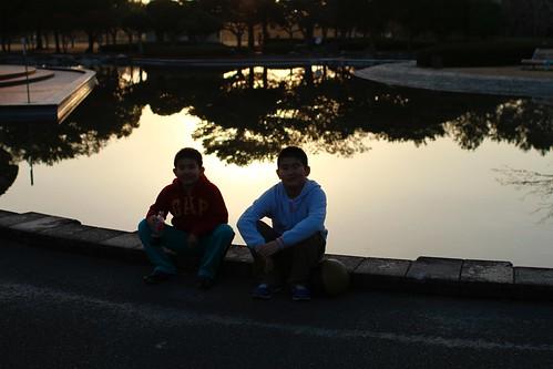 長男と次男 (^^)