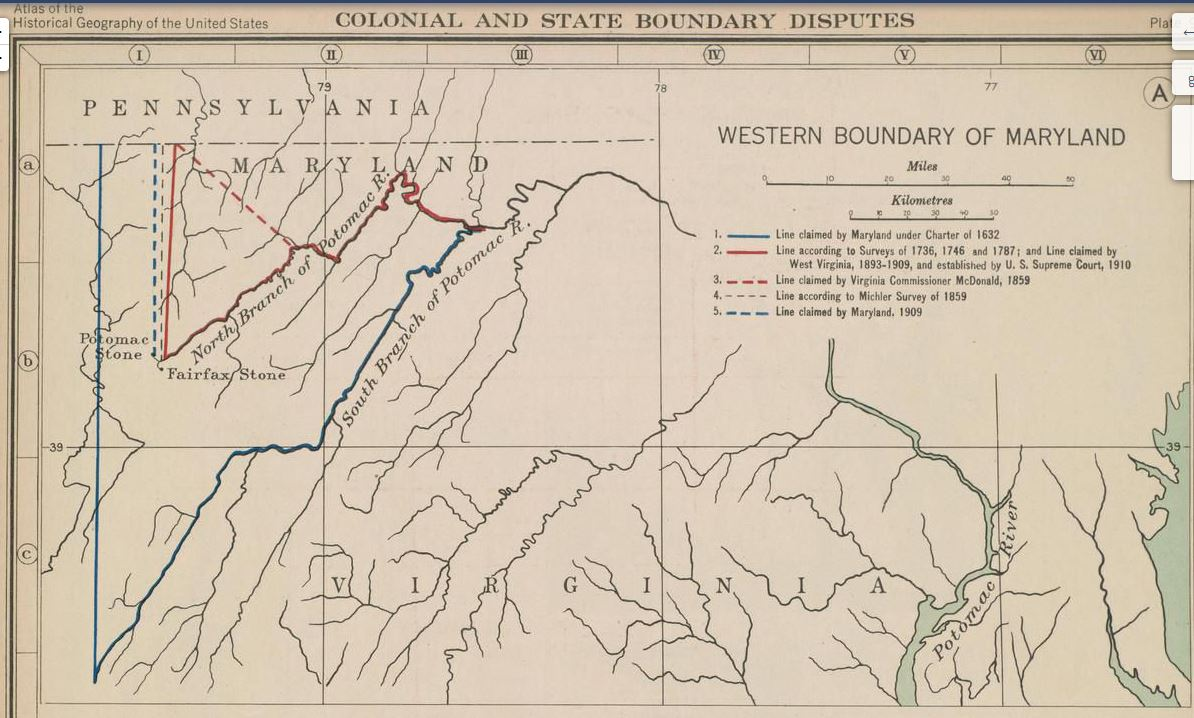 West Virginia – Maryland Border Dispute