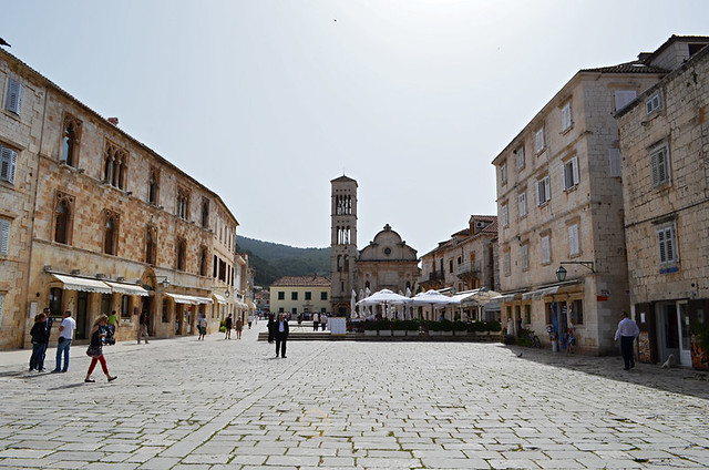 Main Square and Cathedral, Hvar, Croatia