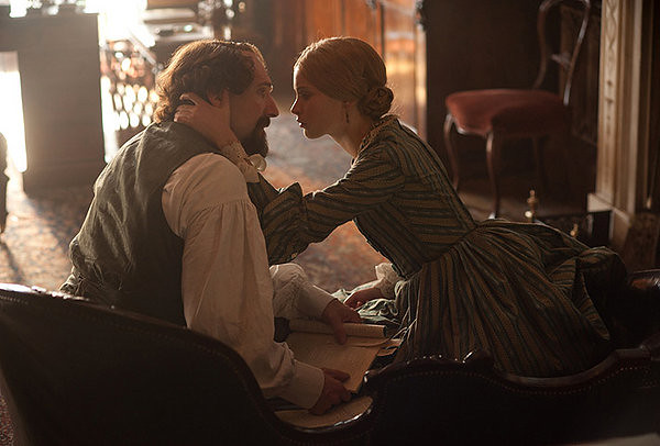 Ralph Fiennes and Felicity Jones connect in THE INVISIBLE WOMAN.
