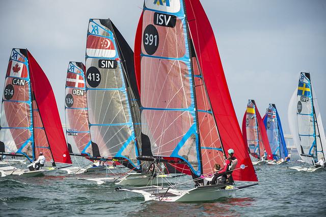 Mayumi Roller &  Kayla McComb: Sailing World Cup 2014, Miami FL