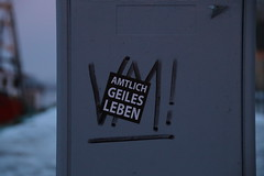<p>Das is` mal`n Motto.</p>
