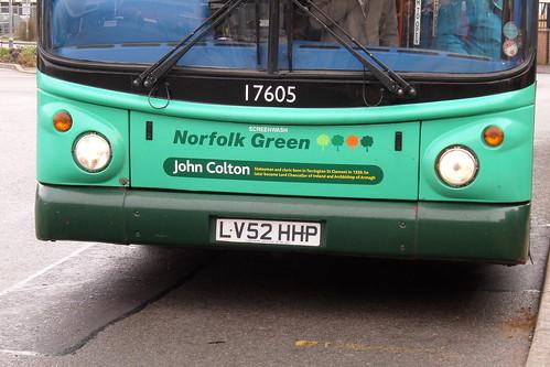Stagecoach Norfolk Green 17605 LV52 HHP