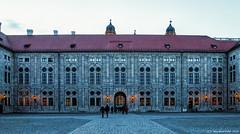 München, Residenz der bayrischen Herzöge, Kurfürsten und Könige (Kaiserhof, Blick auf die Steinzimmer)