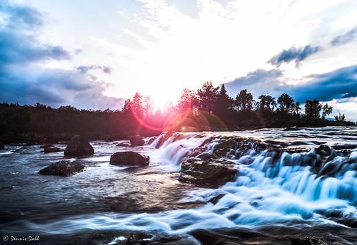 blue sunset sky sun water norway oppland mygearandme