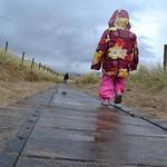 Harlech Beach in the rain
