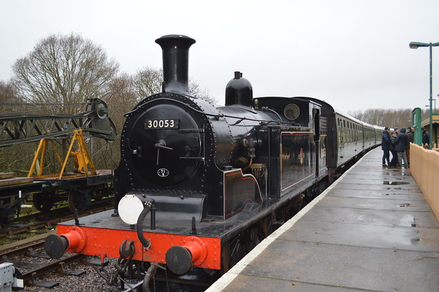 a picture of a steam train on swanage railway line