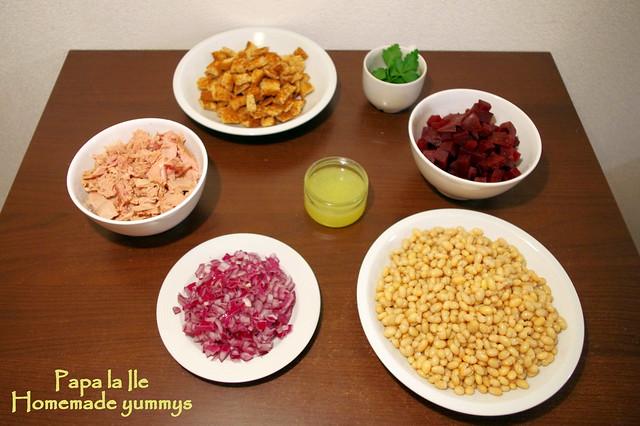 Salata cu fasole boabe si ton (3)