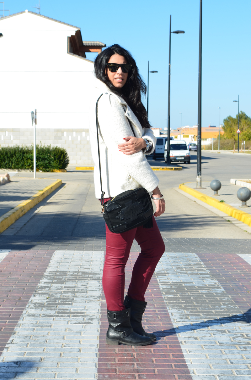 florenciablog total look burgundy inspiration burgundy look granate fieltro jacket cream jacket gandia españa bloggers (8)