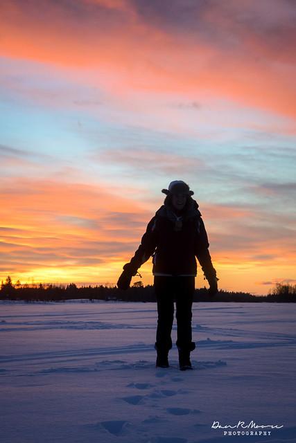 An Arctic Adventure in Swedish Lapland - Sunset in Swedish Lapland
