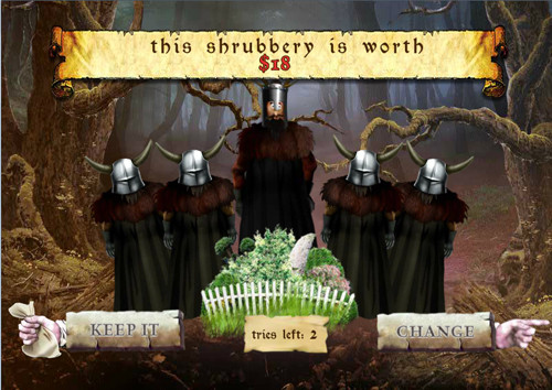 free Monty Python's Spamalot bonus game