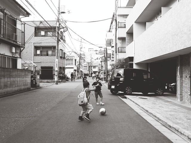 Street football.