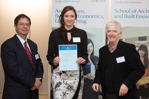 2013 Winner: Rhiana Bell Presented by Steve Grieve (State Chapter President-AIA) and Prof George Zillante (Head of School)