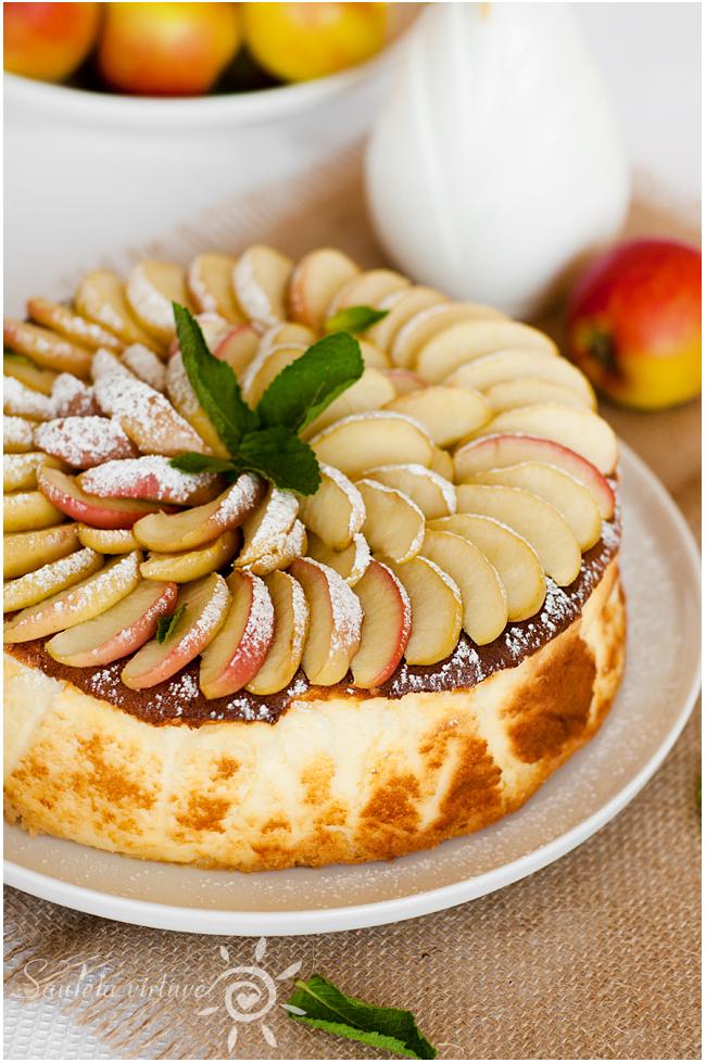 Sūrio pyragas su obuoliais (4)