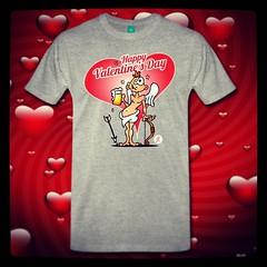 Happy Valentine's Day! Cupid drinking a beer on a T-Shirt. #Spreadshirt #Zazzle #Society6 #Redbubble #TheKase #Skreened #valentine #love #beer #valentijn #liefde #bier #Tshirt #Tshirtdesign #dailydrawing #dailysketch #Cardvibes #Tekenaartje  #cupido