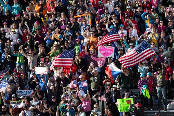 Crowds at World Championships slalom