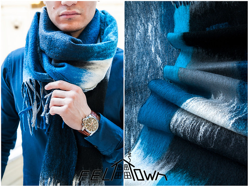 Collection of men milled Nuno-felted wool scarves and silk from the project FELTTOWN by  Kovylina Anna and Catherine Salamatina.