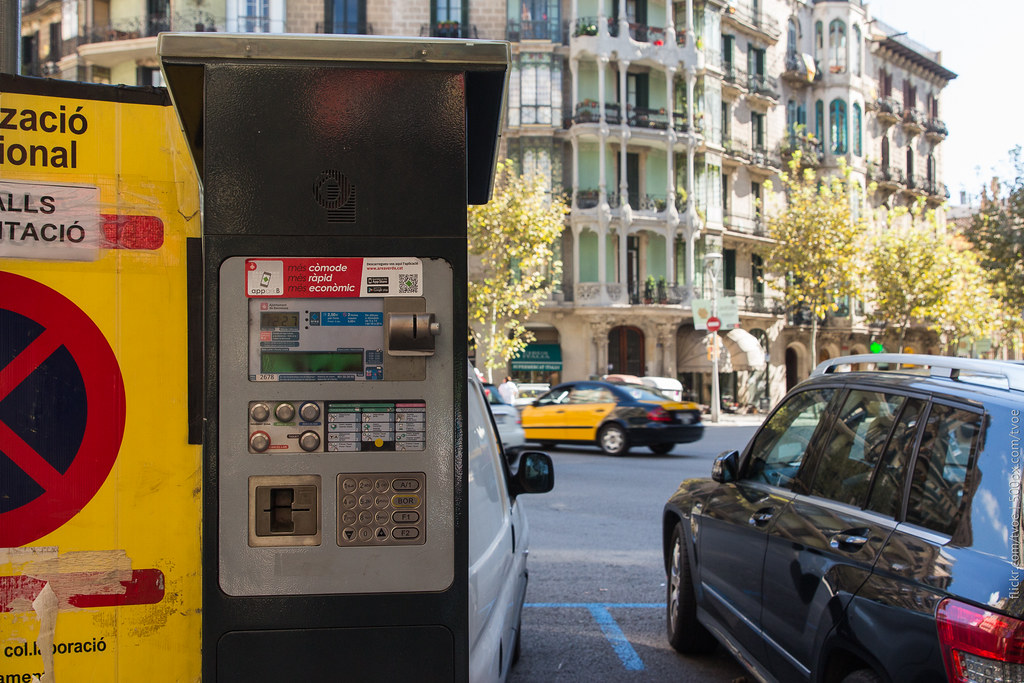 Паркомат в Барселоне