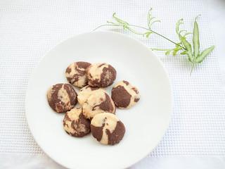 037 大理石曲奇, Chocolate marble cookies