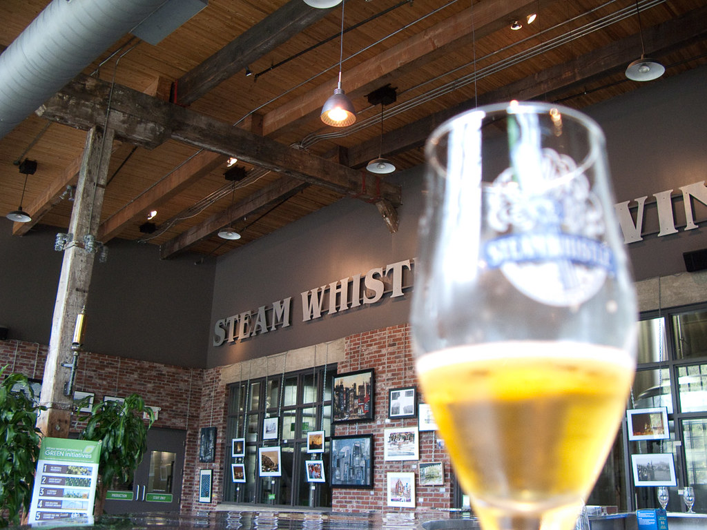 Steam whistle tasting