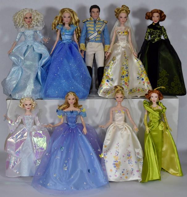 Complete Set Of Disney Cinderella Movie Dolls Disney