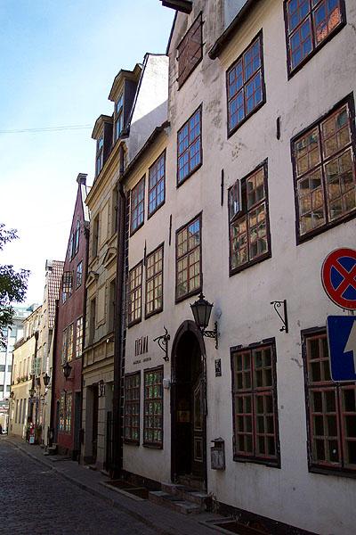 Una calle de Riga