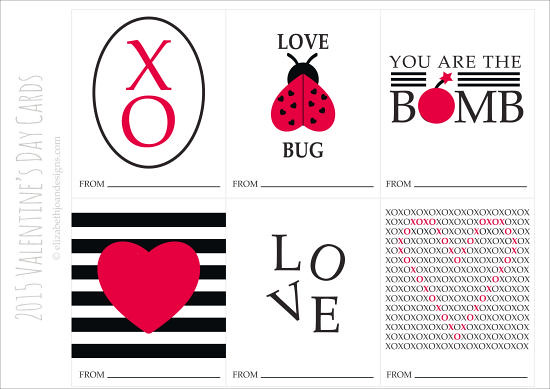 Black White Red Valentines