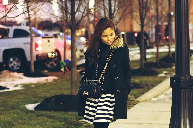 Black White Stripes outfit