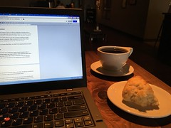 remembering fondly from awhile back the best scone I ever had & perfect coffee pairing by @edd369 at @thevespr
