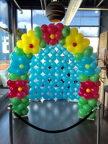 Ballonboog 6m met Achterwand Pinksteren Watertuin Spijkenisse