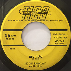 EDDIE BARCLAY AND HIS ORCHESTRA:THE BANDIT(LABEL SIDE-B)