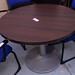 Round meeting table metal base
