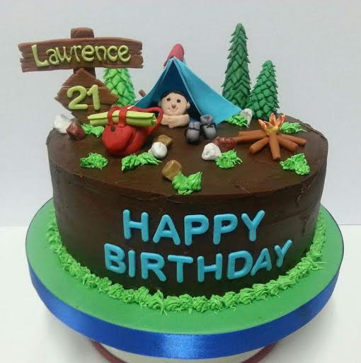 Camping Themed Cake by Mercidita Hernandez of Jefcee's Cakes and Desserts