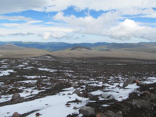 Descente du volcan Chimborazo à vélo