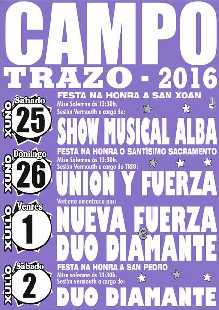 Trazo 2016 - Festas de San Xoán de Campo - cartel