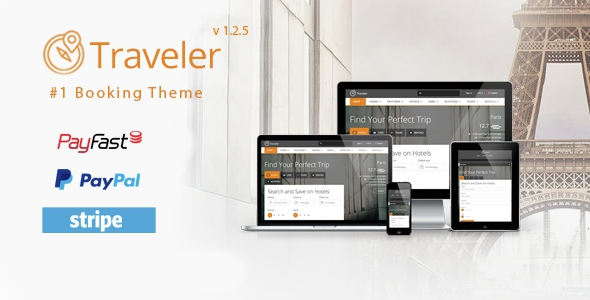 Traveler v1.2.6 - Travel/Tour/Booking WordPress Theme