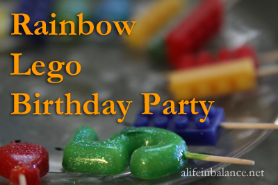 Rainbow Lego Birthday Party