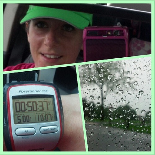 A little rain didn't stop me from having a great run! #IWILL #whatsbeautiful #Fitfluential #run