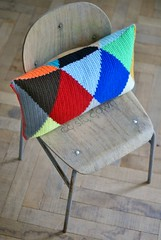 wood & wool harlequin pillow 024