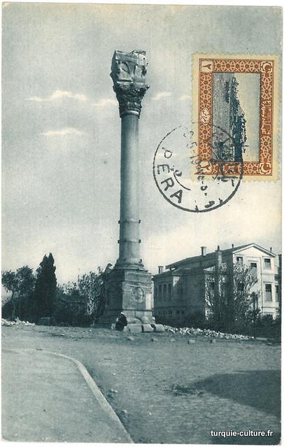 Istanbul, colonne de Marcien, carte postale, vers 1920
